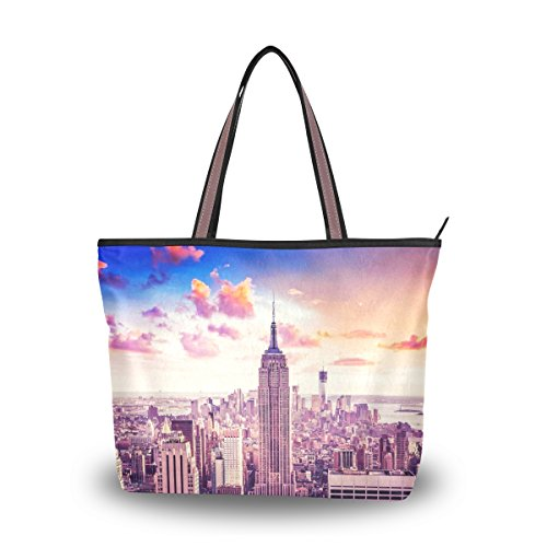Women's Designer Handbags Fashion Big Canvas Washable Tote Bags Shoulder Bag Top-handle Bag with Top Selection Of New York for Shopping Travel - New York Hut