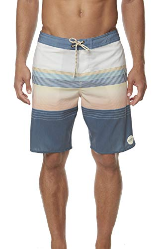 O'Neill Men's Volley Swim Boardshorts, 20 Inch Outseam (Bone/Stripe Club, 33)
