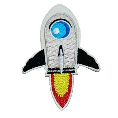 R2K Cute Rocket Space DIY Embroidered Sew Iron on Patch