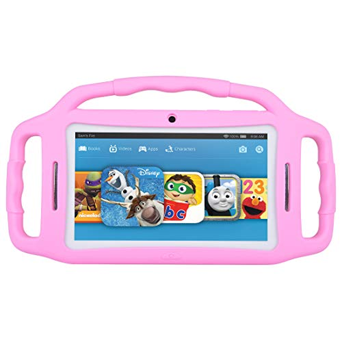 BENEVE Tablets for Kids,Andriod 7.1 Edition Tablet with 1GB RAM 8GB ROM and WiFi,Kids Software iWawa Pre-Installed. (Light Pink)