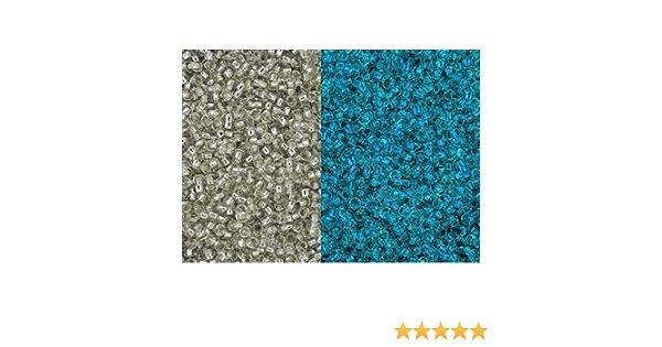 11//0 Japanese Seed Beads Glow in the Dark Crystal Glow Blue 28 GRAMS