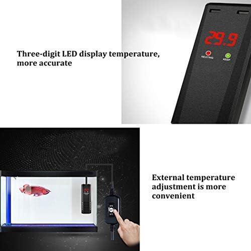 塩水淡水魚用水中アクアリウムヒーター防爆自動サーモスタット、調節可能なサーモスタットLED温度表示付き水槽用水中アクアリウムヒーター