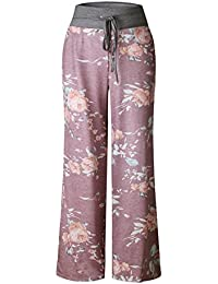 Women's Summer Casual Pajama Pants Floral Print...