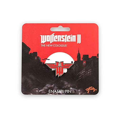 Wolfenstein New Colossus Metal Enamel Collector Pin| Collector's Edition Red (Wolfenstein Ii The New Colossus Voice Actors)