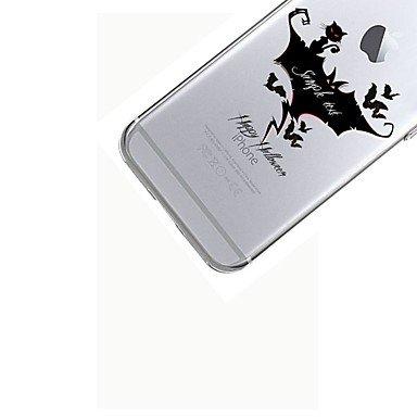 Fundas y estuches para teléfonos móviles, Para la caja del teléfono 7plus caja transparente de la contraportada del patrón de la historieta tpu suave de víspera de Todos los Santos ( Modelos Compatibl IPhone 6s Plus/6 Plus