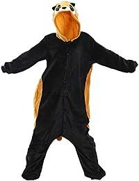 Adult Onesie Cosplay Pajamas Sleepsuit Cartoon Animal Kung Fu Flannel Panda Raccoon
