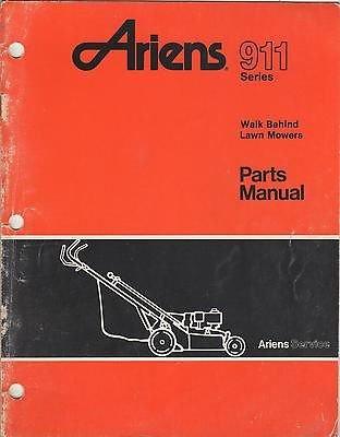 9/1990 ARIENS 911 SERIES WALK BEHIND LAWN MOWERS PARTS MANUAL (142)