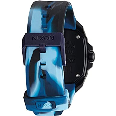 Amazon.com: Nixon Ruckus Blue Dial Polyurethane Strap Mens Watch A349172600: Nixon: Watches