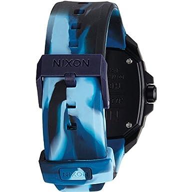 Amazon.com: Nixon Ruckus Blue Dial Polyurethane Strap Mens Watch A349172600: Nixon: Watches