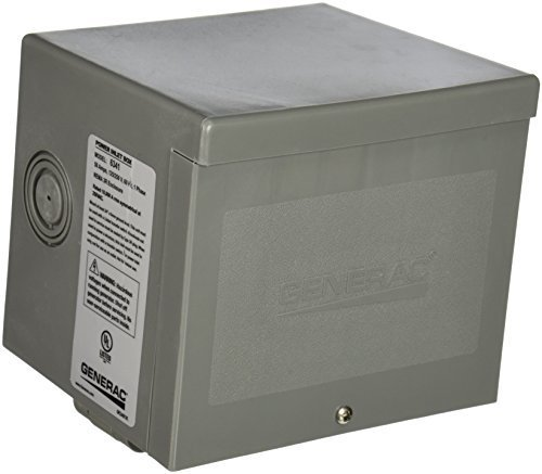 Generac 6341 50-Amp 125/250V Raintight Power Inlet Box with Spring-Loaded Flip Lid by Generac