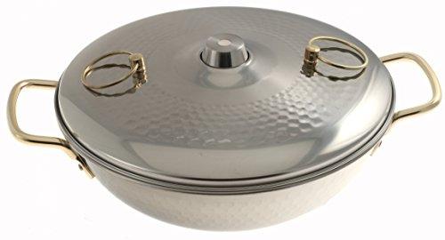 Kotobuki Traditional Japanese Stainless Steel Shabu Pot, Silver by Kotobuki