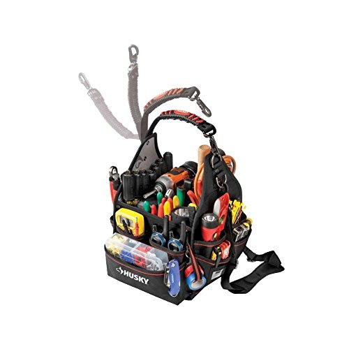 """Husky 88593N11 10"""" Electrician Bag with Driver Wall"""