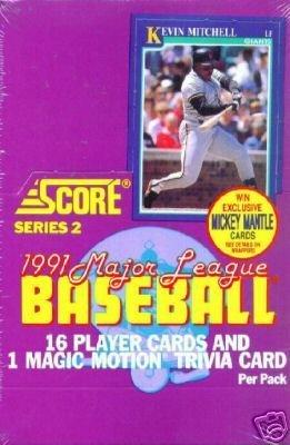 1991 Score Series 2 Baseball Box 36P
