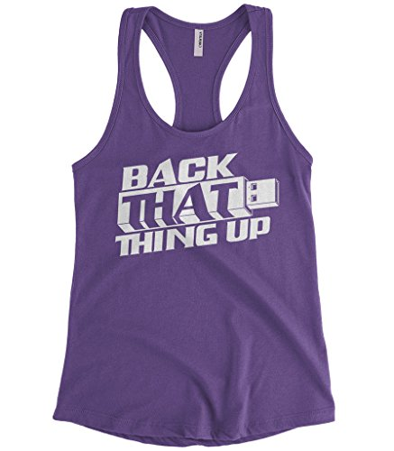 Cybertela Women's Flash Drive Back That Thing Up Racerback Tank Top (Purple, Large) (Usb Nerdy Drive)