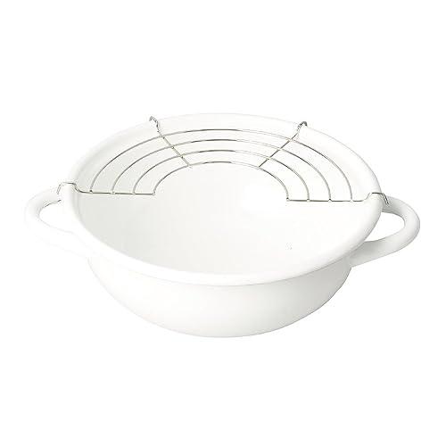 パール金属 ブランキッチン ホーロー天ぷら鍋20cm