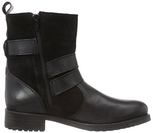 Buffalo London ES 30508 Damen Biker Boots Schwarz (PRETO 01)