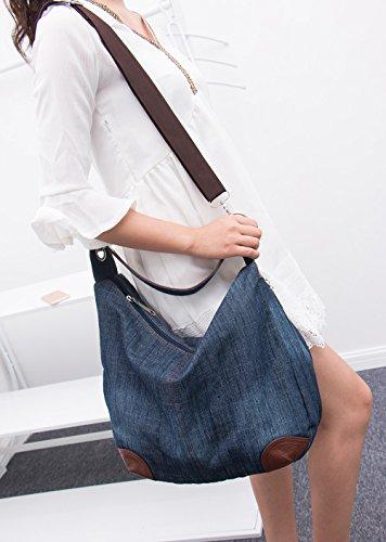 6774c0cfdc Dreams Mall(TM) Women s Handbag Purse Hobo Tote Top Handle Shoulder  Crossbody Bags Denim