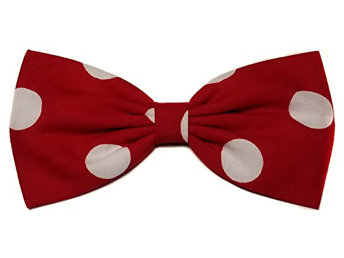 Red Large Polka Dot's Minnie Mouse Inspired Hair Bow (Alligator Clip)