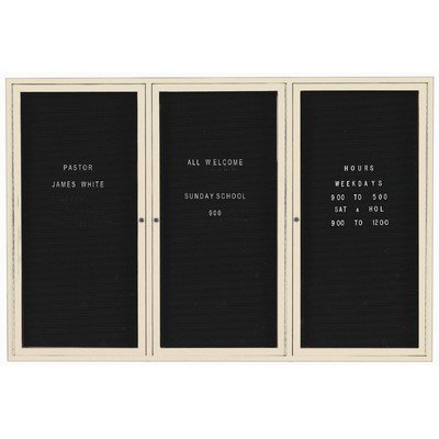 Aarco Products 2 Door Outdoor Enclosed Directory Board with Aluminum Frame 36H x 48W, OADC3648 (Board Outdoor Directory)