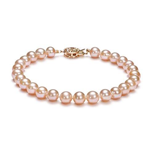 Rose 6-7mm AAA-qualité perles d'eau douce -Bracelet de perles