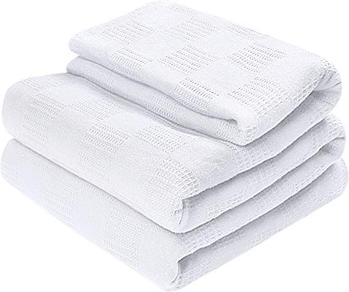 Utopia Bedding Premium Cotton Blanket Full/Queen White