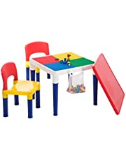 Lenoxx 2 in 1 Creative Building Block Activity Play Table & Chairs