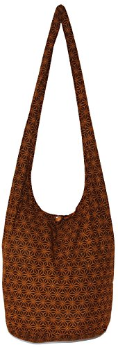 Bohemian Hippie Shoulder Hobo Boho Cross Body Bag Purse Diamond (Brown) by All Best Thing