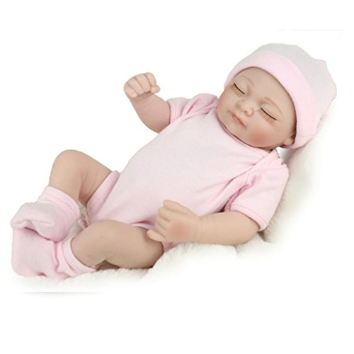 Reborn Newborn Baby Realike Doll Handmade Lifelike Silicone Vinyl Weighted Alive Doll For Toddler Gifts 11