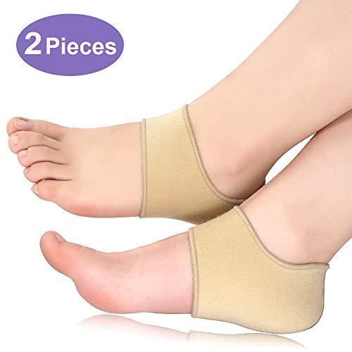 Beautulip Heel Sleeves for Cracked Heels, Heel Wraps for Plantar Fasciitis - Heel Protectors of Achilles Tendinitis, Heel Spurs for Women and Men 2 Pieces (Small (Women