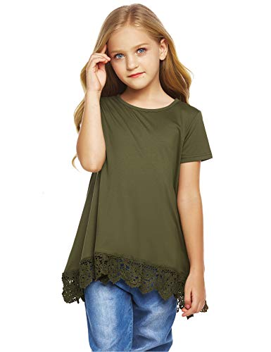 Arshiner Girls Casual Tunic Tops Long Sleeve Loose Soft Blouse T-Shirt for 4-13 Years 2