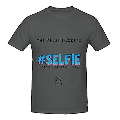 The Chainsmokers #Selfie Pop Men Crew Neck Customized Shirts