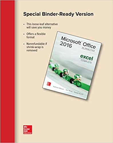 Looseleaf for microsoft office excel 2016 complete in practice looseleaf for microsoft office excel 2016 complete in practice randy nordell professor of business technology edd kathleen stewart 9781259911095 fandeluxe Image collections
