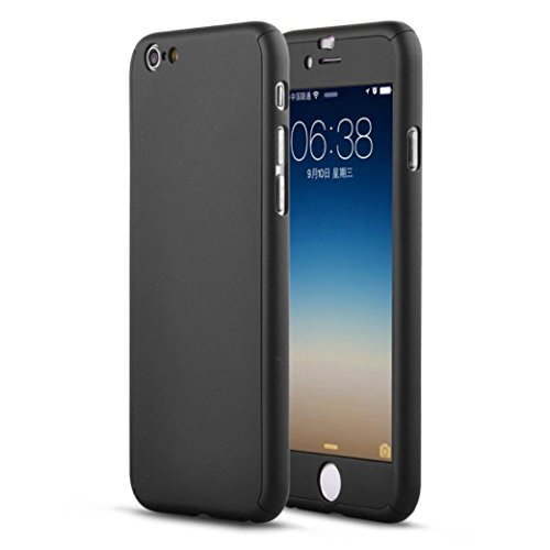 For iPhone 6 Plus, Mchoice Luxury Hybrid Tempered Glass + Acrylic Hard Case Cover Skin for iPhone 6 Plus (Black)