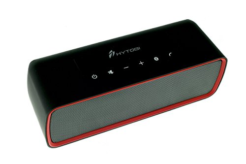 HYTOBI Wireless Portable Bluetooth Speaker, 1200mAh with 6+ Hour Battery Life and Built in Micro SD Card Slot, Red Trim