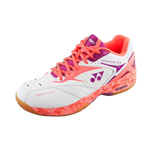 Yonex Women's Power Cushion SHB-SC5 LX Badminton Shoe-Coral Orange-7.5