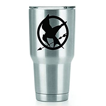 Mockingjay Hunger Games Decal 2 Pack Vinyl Sticker Yeti Tumbler Cup Ozark Trail Rtic Orca Decals Only Cup Not Included Black 3 X 2 75 In Cci1534