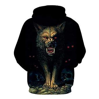 Msxx Lobo totem ropa suéter con capucha camiseta chaqueta ...
