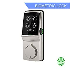 Fast, accurate, 3D fingerprint recognition and number shuffling PIN Genie keypad - Lockly is the world\'s most advanced and secure smart lock for home, office, or rental property.  UNMATCHED SECURITY   Fingerprint Access-Lockly\'s advanced 3D...