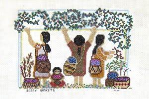 Berry Baskets Counted Cross Stitch Pattern