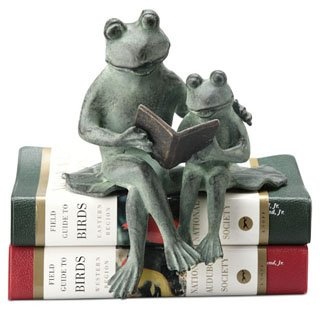 Frog Shelf Sitter (Parent & Kid Reading Frog Shel)
