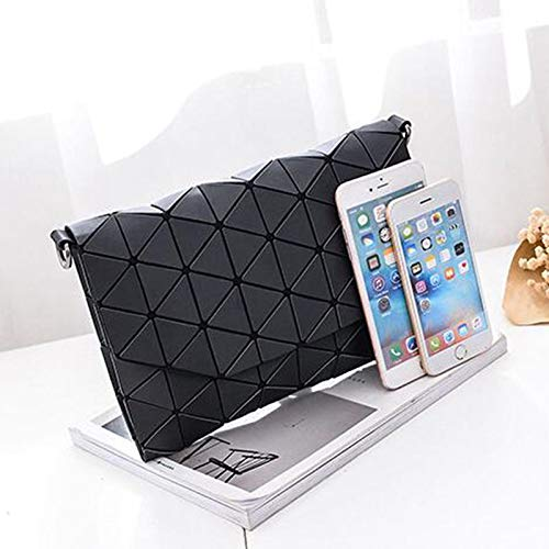Amazon.com  DingXiong Matte Designer Women Evening Bag Shoulder Bags Girls  Flap Handbag Fashion Geometric Casual Clutch Messenger PP-1148  Garden    Outdoor eb4406c2b7b7