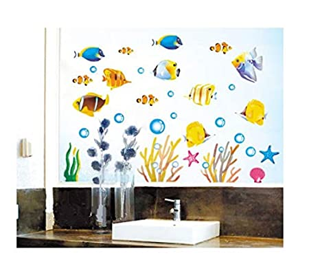Decobay Fish Bathroom Stickerschildrens Room Wall Stickers