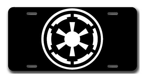 Galactic Empire Star Wars Fan Art License Plate Vanity Auto Tag/Room Sign