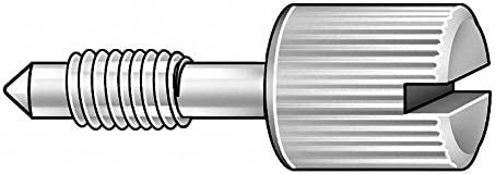 3//8 18-8 Stainless Steel Captive Panel Screw with 4-40 Thread Size and Knurled Head Type