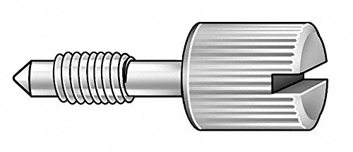 1'' 18-8 Stainless Steel Captive Panel Screw with 8-32 Thread Size and Knurled Head Type by GRAINGER APPROVED
