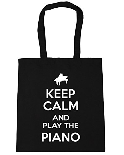 Bag Beach and Piano Play the Keep 10 42cm Shopping HippoWarehouse Gym Calm litres Tote Black x38cm zqwEvpgn