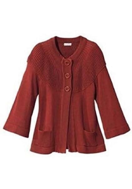 Chaqueta de punto de Cheer en Rojo-marrón - algodón 8bf659091731