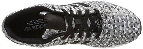Sneaker Flux Weave Core Solid Homme Schwarz pour Weiß Ch Grau Ftwr Grau Gris ZX adidas qHgnAA