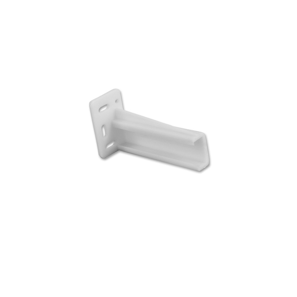 Hardware Resources 9600-RH 9600 Series Right Hand Rear Mounting Socket for Face, White