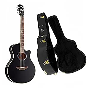 yamaha apx500iii acoustic electric cutaway black guitar with knox hardshell case. Black Bedroom Furniture Sets. Home Design Ideas